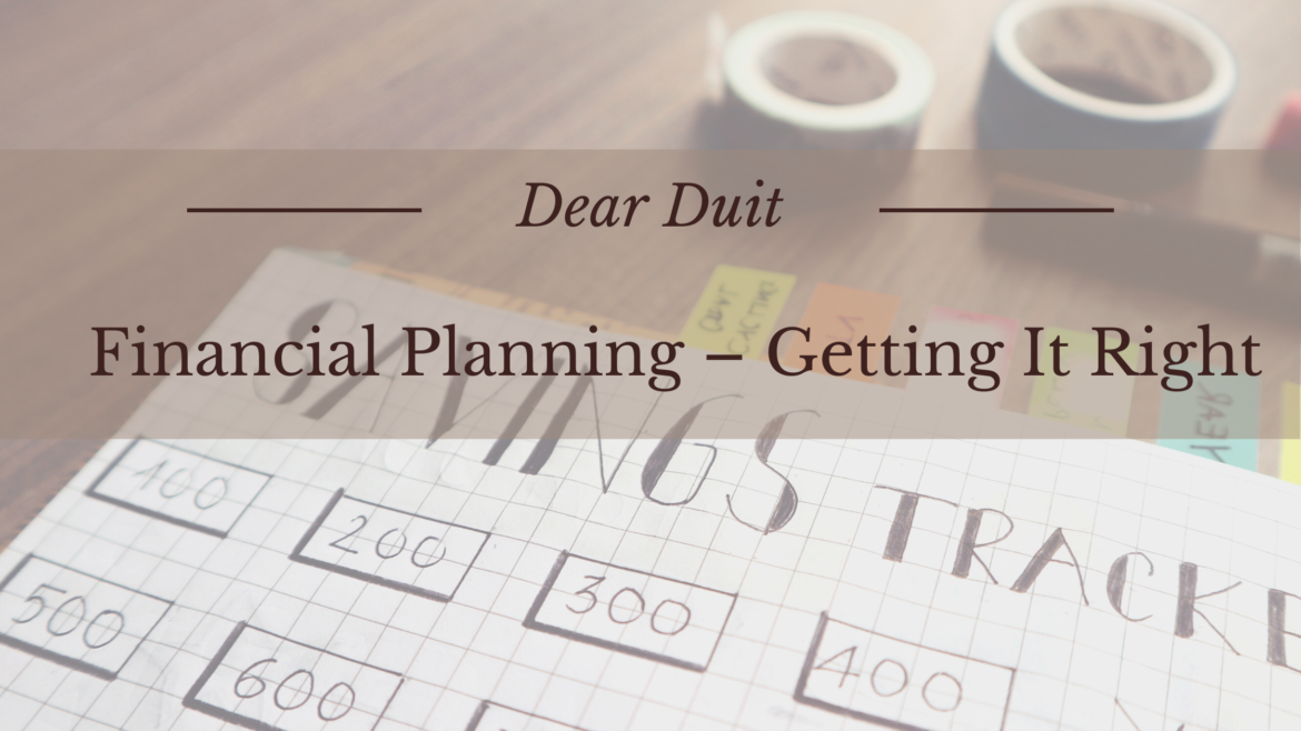 Financial Planning-Getting It Right